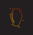 vase icon design vector image