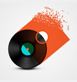 vinyl record lp with transparent cover made from vector image vector image