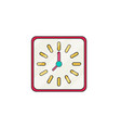 wall clock flat vector image