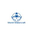 watercraft-logo vector image vector image