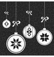 White Christmas balls vector image vector image