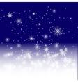 blue winter night vector image