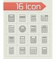 Calculator icon set vector image