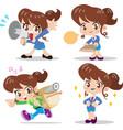 cartoon character woman vector image