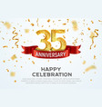 35 years anniversary banner template vector image vector image
