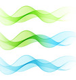 abstract smooth color wave set curve flow vector image vector image