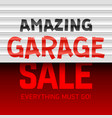amazing garage sale poster template vector image vector image