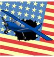 american plane vector image vector image