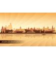 Amsterdam city skyline silhouette background vector image