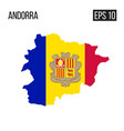 andora map border with flag eps10 vector image vector image