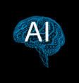 artificial intelligence geometric human brain vector image