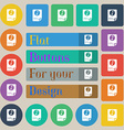 Audio MP3 file icon sign Set of twenty colored vector image vector image