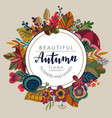 autumn frame with lettering and place vector image