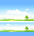 banners landscape vector image vector image