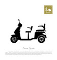 black silhouette of scooter on white background vector image vector image