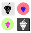 bunch of grapes flat icon vector image vector image