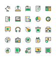 Business and Office Icons 4 vector image vector image