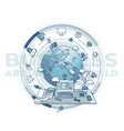 business around world - complex vector image vector image