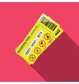 Business style icon of boarding pass to economy vector image vector image
