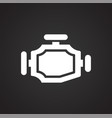 car gear box on black background for graphic and vector image vector image