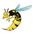 cartoon wasp pest vector image vector image
