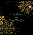 christmas postcard with glitter vector image vector image