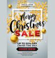 christmas sale design with ornamental ball vector image