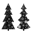 Christmas trees silhouette vector image vector image