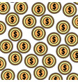 coins money pattern background vector image vector image