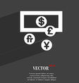 currencies of the world icon symbol Flat modern vector image