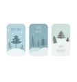 cute winter holiday sticker icon set elements for vector image