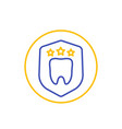 dental insurance protection line icon vector image vector image