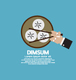 Dimsum With Chopsticks vector image