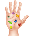 dirty hand with germ vector image vector image
