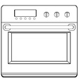 Doodle oven vector image vector image