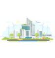 eco-friendly housing complex - modern flat design vector image vector image