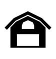farm stable building icon vector image
