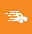 fast car logo vector image