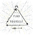 find yourself lettering native american poster vector image