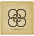 five interlocked circles vintage background vector image vector image