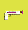 flat shading style icon kids gun vector image vector image