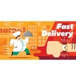 Food fast delivery design vector image