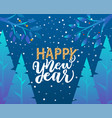 happy new year caption greeting with holiday vector image vector image