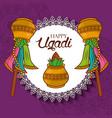 happy ugadi new year celebration hindu vector image vector image