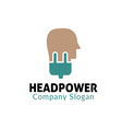 Head Power Design vector image vector image