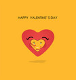 heart icons logo design template vector image vector image