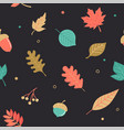 hello autumn seamless pattern vector image