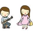 Hobby of boy and girl vector image vector image