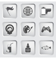 Icons on the buttons for Web Design Set 7 vector image