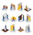 isometric home repair set vector image vector image